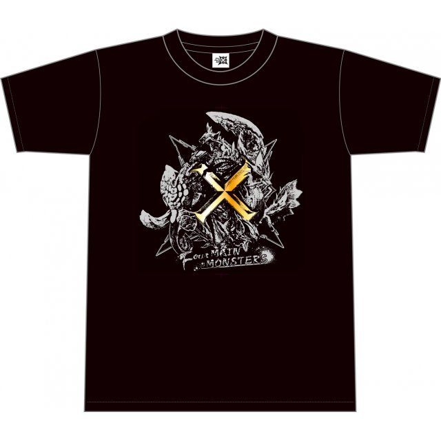 Monster Hunter X T-shirt: Four Main Monsters (M Size)