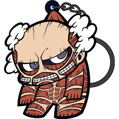 Attack on Titan Tsumamare Key Ring Ver. 2.0: Colossal Titan