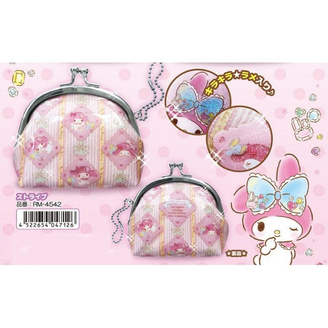 My Melody Round Coin Purse: Stripe