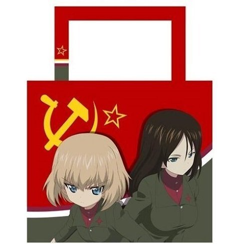 Girls und Panzer der Film Water-repellent Shoulder Tote Bag: Pravda High School