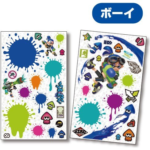 Splatoon Super BIG Kabe Deco Wall Sticker: Boy