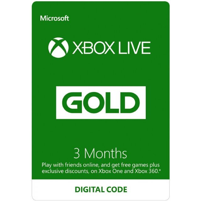 Xbox Live Gold 3+1 Month Membership GLOBAL