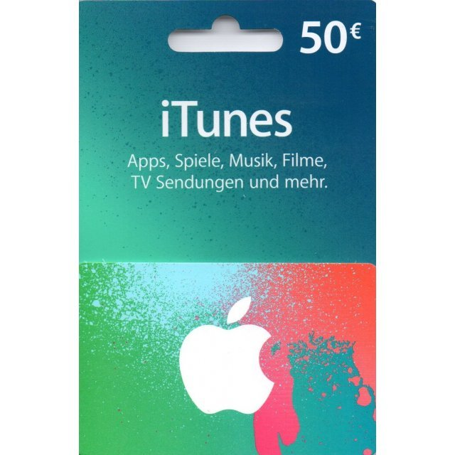iTunes Card (EUR 50 / for DE accounts only)