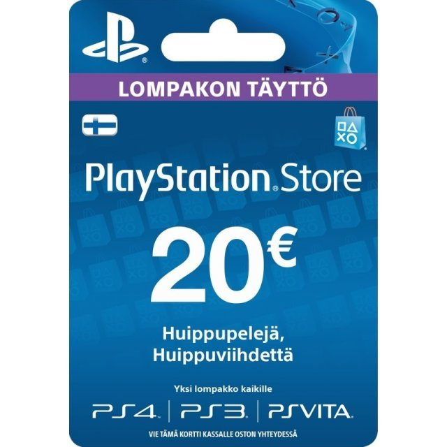 PSN Card 20 EUR | Playstation Network Finland