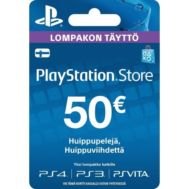 PSN Card 50 EUR | Playstation Network Finland
