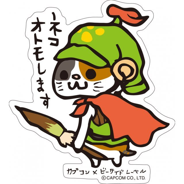 CAPCOM x B-SIDE Label Sticker: Monster Hunter Airou Otomoshimasu (Re-run)