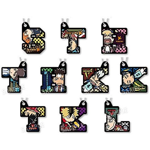 Haikyu!! Second Season Defomed Initial Key Chain (Set of 10 pieces)