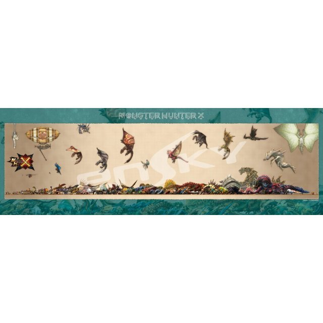Monster Hunter X 950 Piece Jigsaw Puzzle: Monster Size Chart