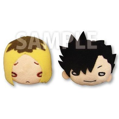 Nitotan Haikyu!! Second Season Plush Badge Set: Kozume & Kuroo