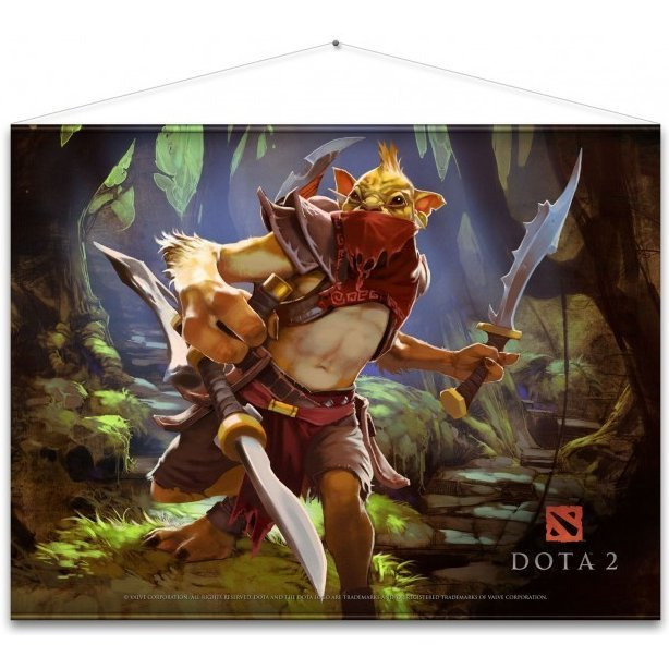Dota 2 Wall Scroll: Bounty Hunter