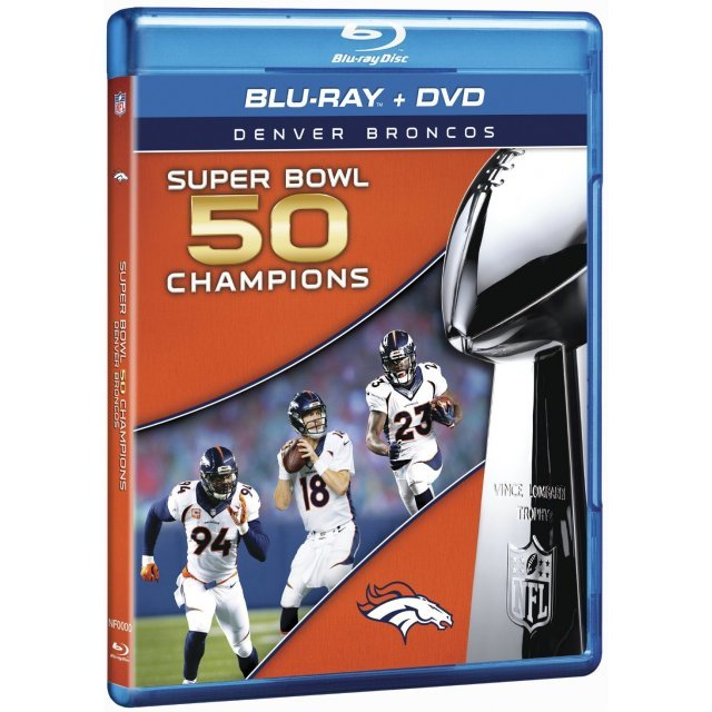 NFL Super Bowl 50 Champions: Denver Broncos [Blu-ray+DVD]