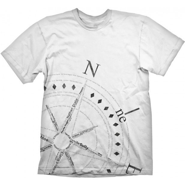 Uncharted T-Shirt: Compass (XL Size)