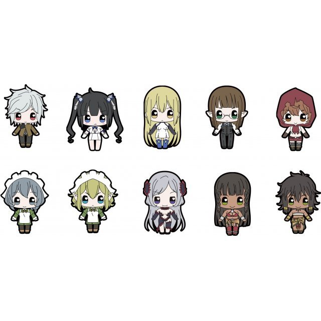 Is It Wrong to Try to Pick Up Girls in a Dungeon? Moekko Trading Rubber Strap (Set of 10 pieces)