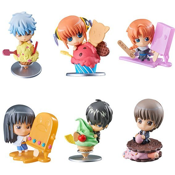 Petit Chara Land Gintama Gin-san Ice Cream Shop - Fruit Paradise (Set of 6 pieces)