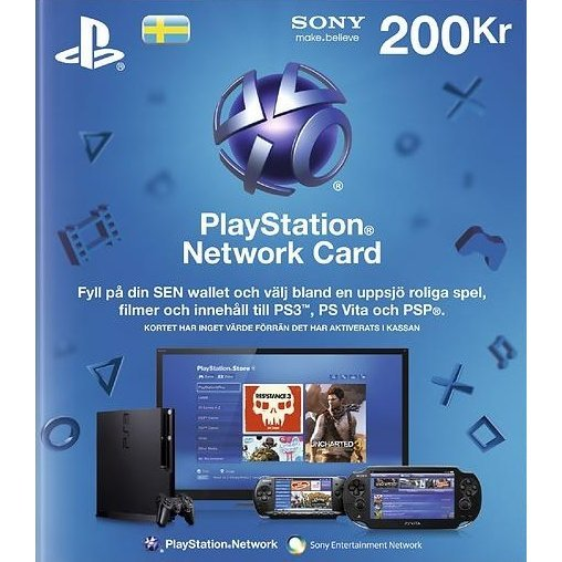 PlayStation Network 200 SEK CARD SE