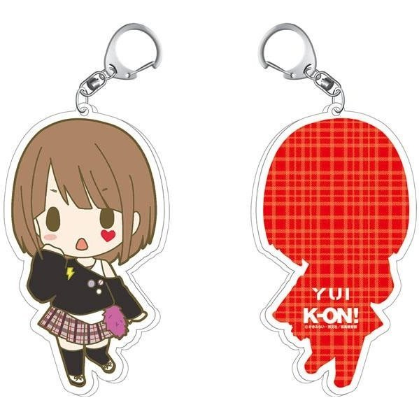 K-On! Animaru! Limited Illustration Acrylic Keychain: Yui (Re-run)
