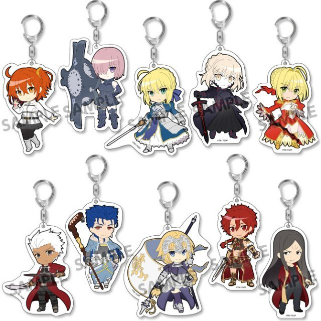 Pikuriru! Fate/Grand Order Trading Acrylic Keychain (Set of 10 pieces)