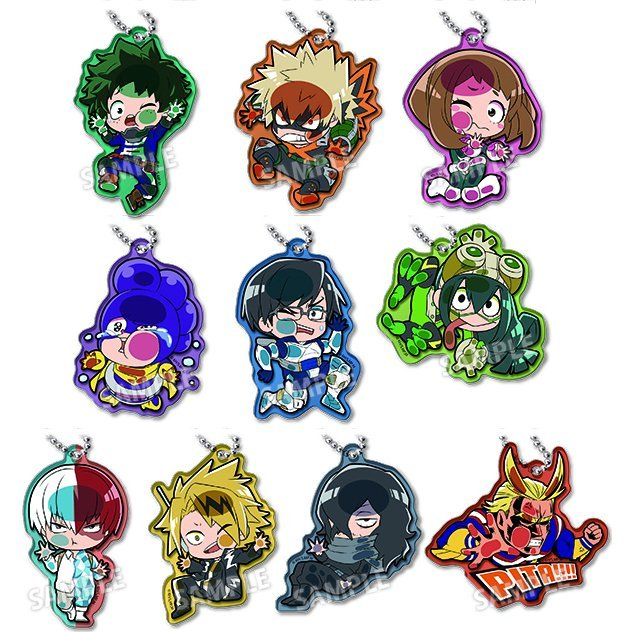 Pita! Defome My Hero Academia Acrylic Keychain (Set of 10 pieces)