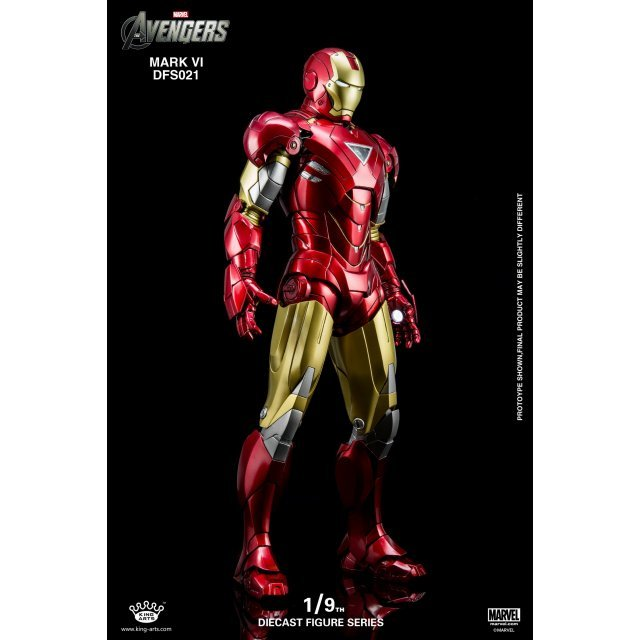 King Arts Avengers 1/9 Diecast Figure Series: Iron Man Mark VI