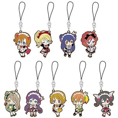 Love Live! Rubber Strap Mogyutto 'Love' de Sekkinchu! Ver. (Set of 9 pieces)