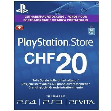 PlayStation Network 20 CHF PSN CARD CH