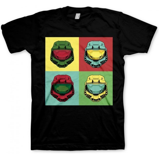 Halo T-Shirt Master Chief Pop Art (M Size)