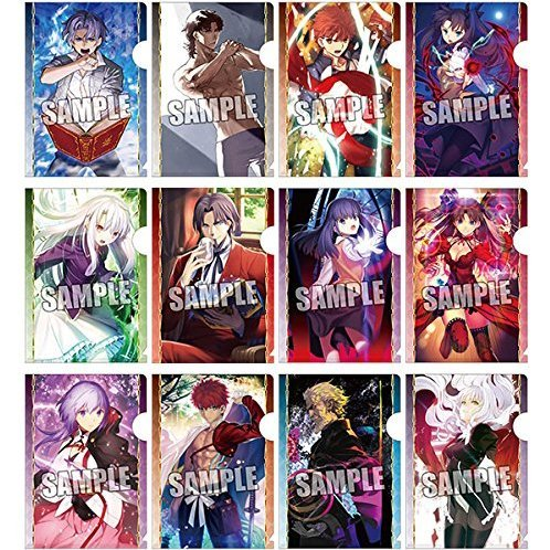 Fate/Grand Order Trading Mini Clear File with Postcard (Set of 12 pieces)