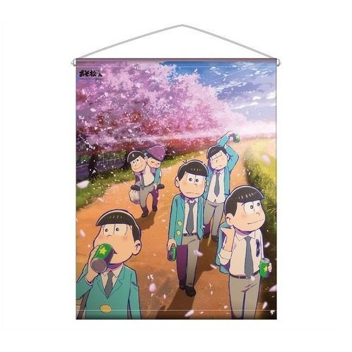Osomatsu-san Wall Scroll: Cherry Blossoms Road Ver.