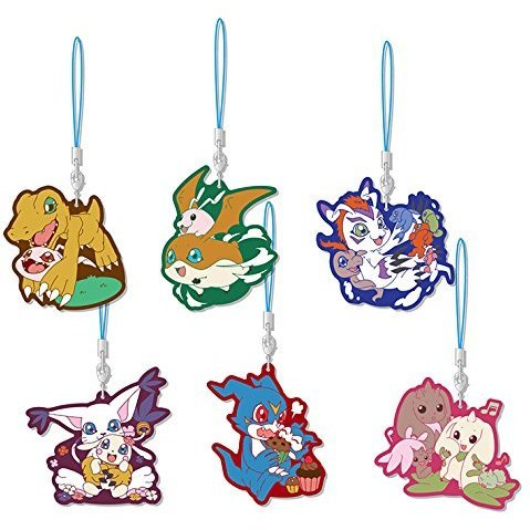 Digimon Series Rubber Strap Collection (Set of 6 pieces)
