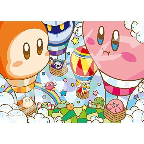 Kirby's Dream Land Art Crystal Jigsaw 208 Pieces Puzzle: Balloon Festival!