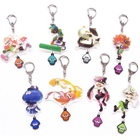 Splatoon Acrylic Key Chain with Squid Rubber Vol. 3 (Set of 8 pieces)