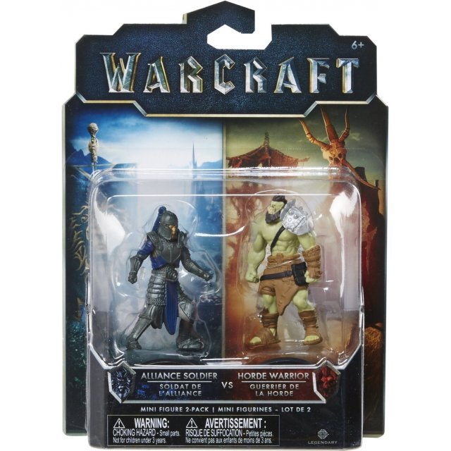 Warcraft Mini Action Figure 2 Pack: Horde Warrior & Alliance Soldier