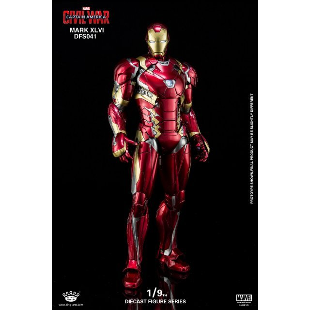 King Arts Captain America Civil War 1/9 Diecast Figure Series: Iron Man Mark XLVI