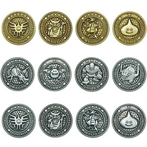 Dragon Quest Treasure Coin Collections (Set of 12 Pieces)