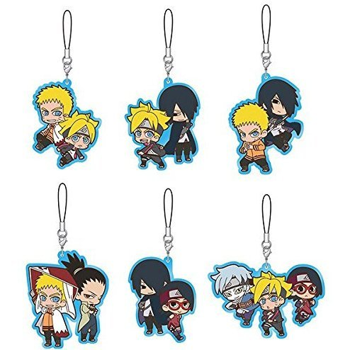 Boruto Naruto the Movie Rubber Strap Collection (Set of 6 pieces)
