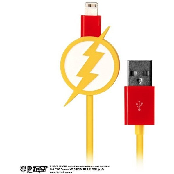DC Comics Justice League Lightning Charge Cable for iPad/iPhone (Flash)