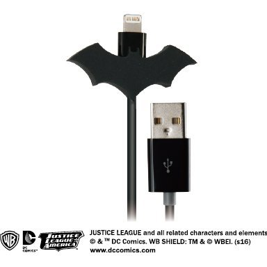 DC Comics Justice League Lightning Charge Cable for iPad/iPhone (Batman)