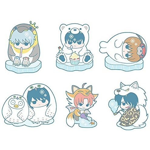 Gintama Rubber Mascot: Prince Hata Ice Animal Ver. (Set of 6 pieces)