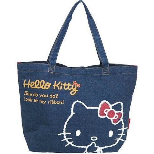 Hello Kitty Denim Series Tote Bag
