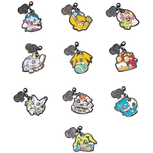 Metal Charm Collection Digimon Adventure Itsumo Issyodayo! Ver. (Set of 10 pieces)
