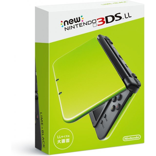 New Nintendo 3DS LL (Lime x Black)