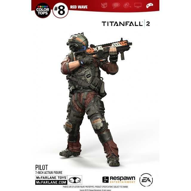 Titanfall 2 7-inch Action Figure: Pilot [#8 Red Wave Color Tops Collector Edition]