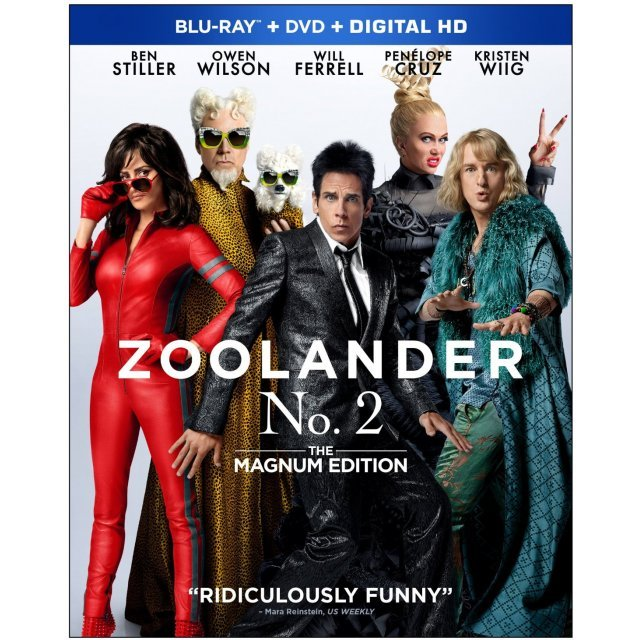 Zoolander 2 [Blu-ray+DVD+Digital HD]