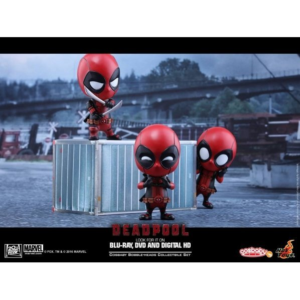 Deadpool Cosbaby Collectible Set (Set of 3 pieces)