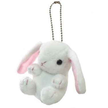 Kyun Kyun Mini Mascot Plush: Lop Eared Rabbit