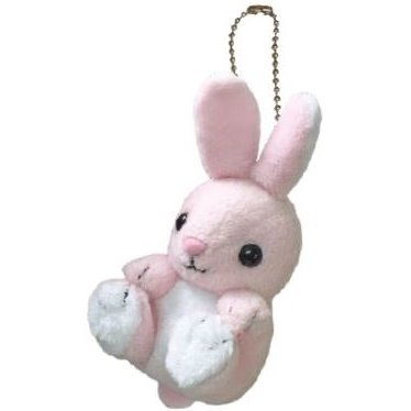 Kyun Kyun Mini Mascot Plush: Rabbit