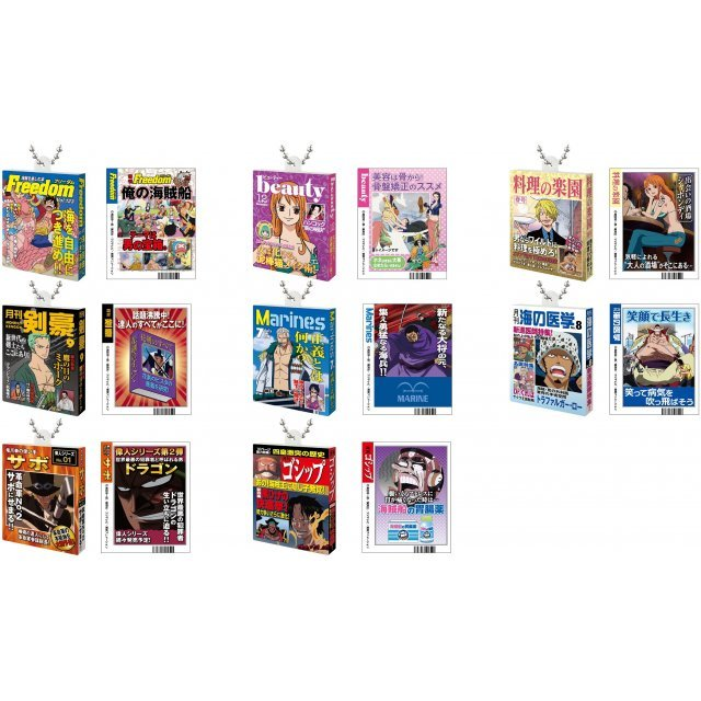 One Piece Book Mascot (Set of 8 pieces)