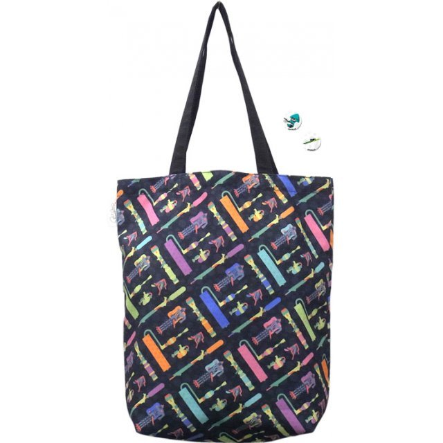 Splatoon Ikasu Tote Bag with Can Badge (Weapon)