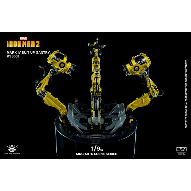 King Arts Scene Series Iron Man 2: 1/9 Mark IV Suit-Up Gantry