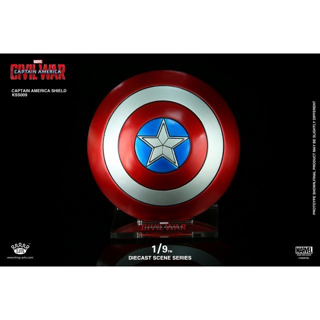 King Arts Scene Series Iron Man 3: 1/9 Diecast Captain America Shield